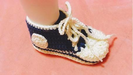 宝宝的鞋子妈妈包,亲手为萌宝打造运动风,宝宝酷炫运动鞋(三)