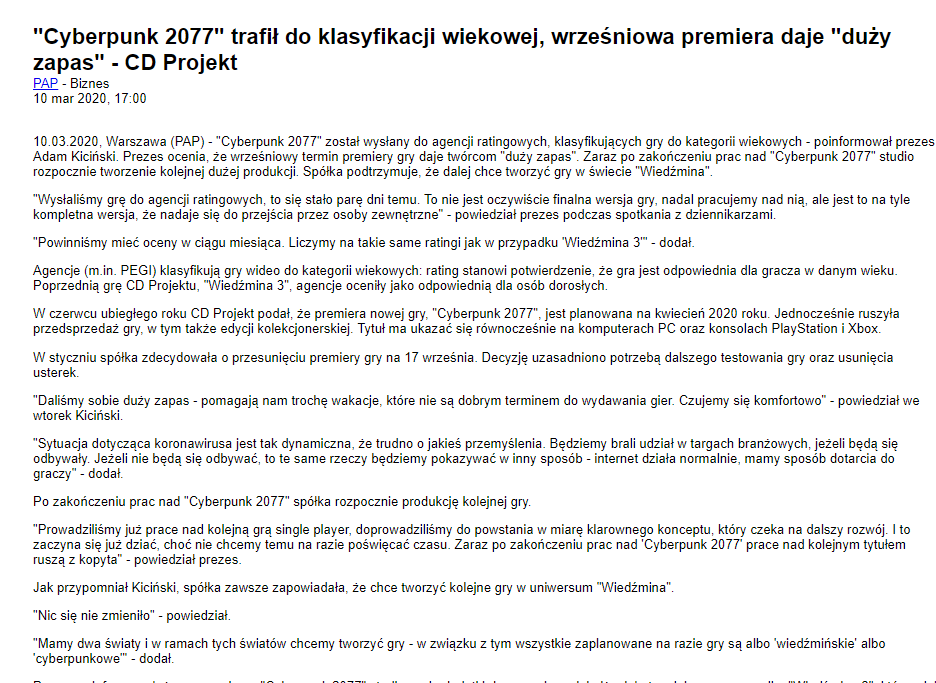 CDPR总裁表示《赛博朋克2077》发售后计划开发新的《巫师》游戏 巫师 游戏资讯