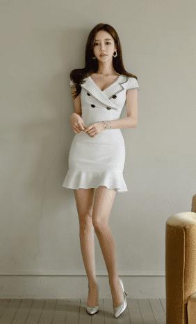 短款鱼尾裙,轻松穿出精致女人感
