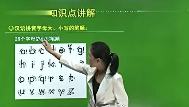 汉语拼音字母的书写