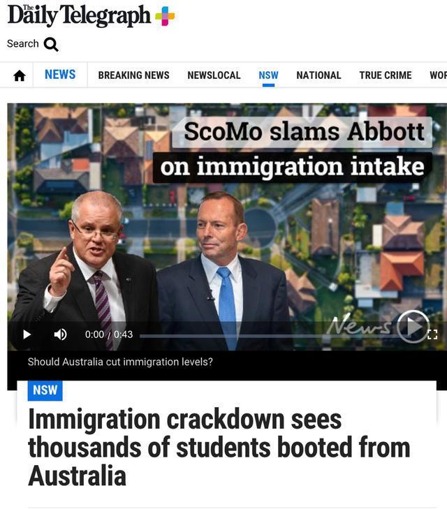 澳洲对留学签证下手了!3000人驱逐出境,上万人签证被取消!