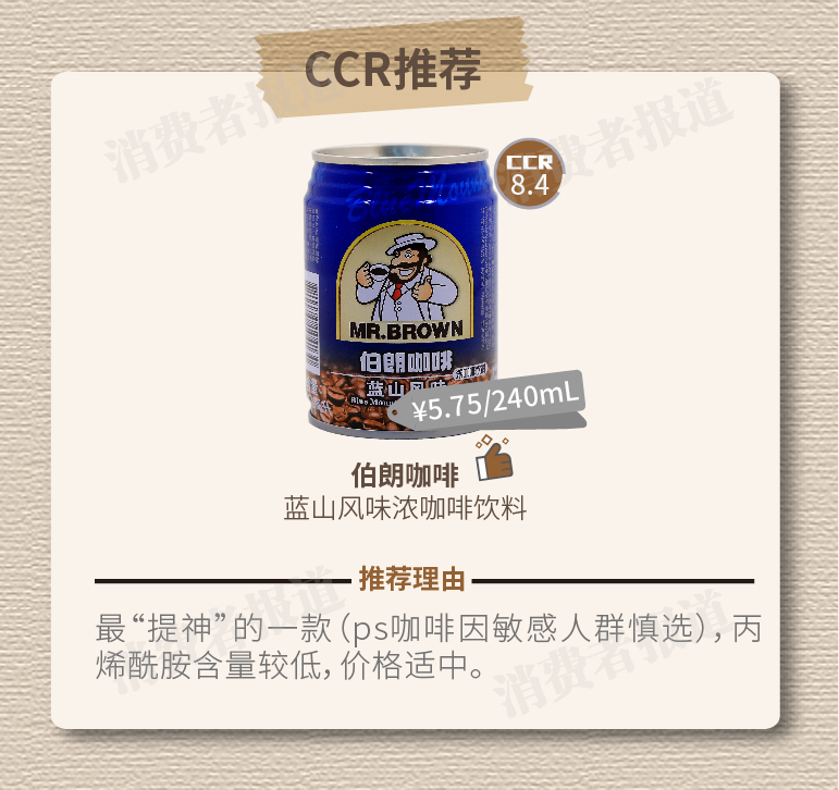 【CCR测评】12款即饮咖啡测评