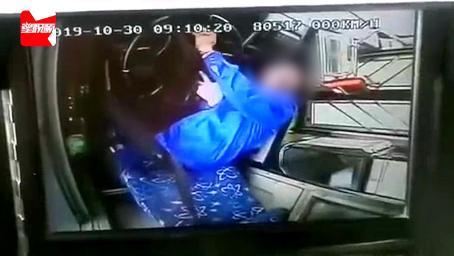 驾驶室监控曝光:天津公交司机突发疾病致车失控,连撞8车2人受伤