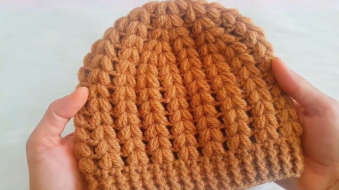 鉤針編織時尚麥穗花兒童帽子,簡單大方,寶媽們快來學哦!