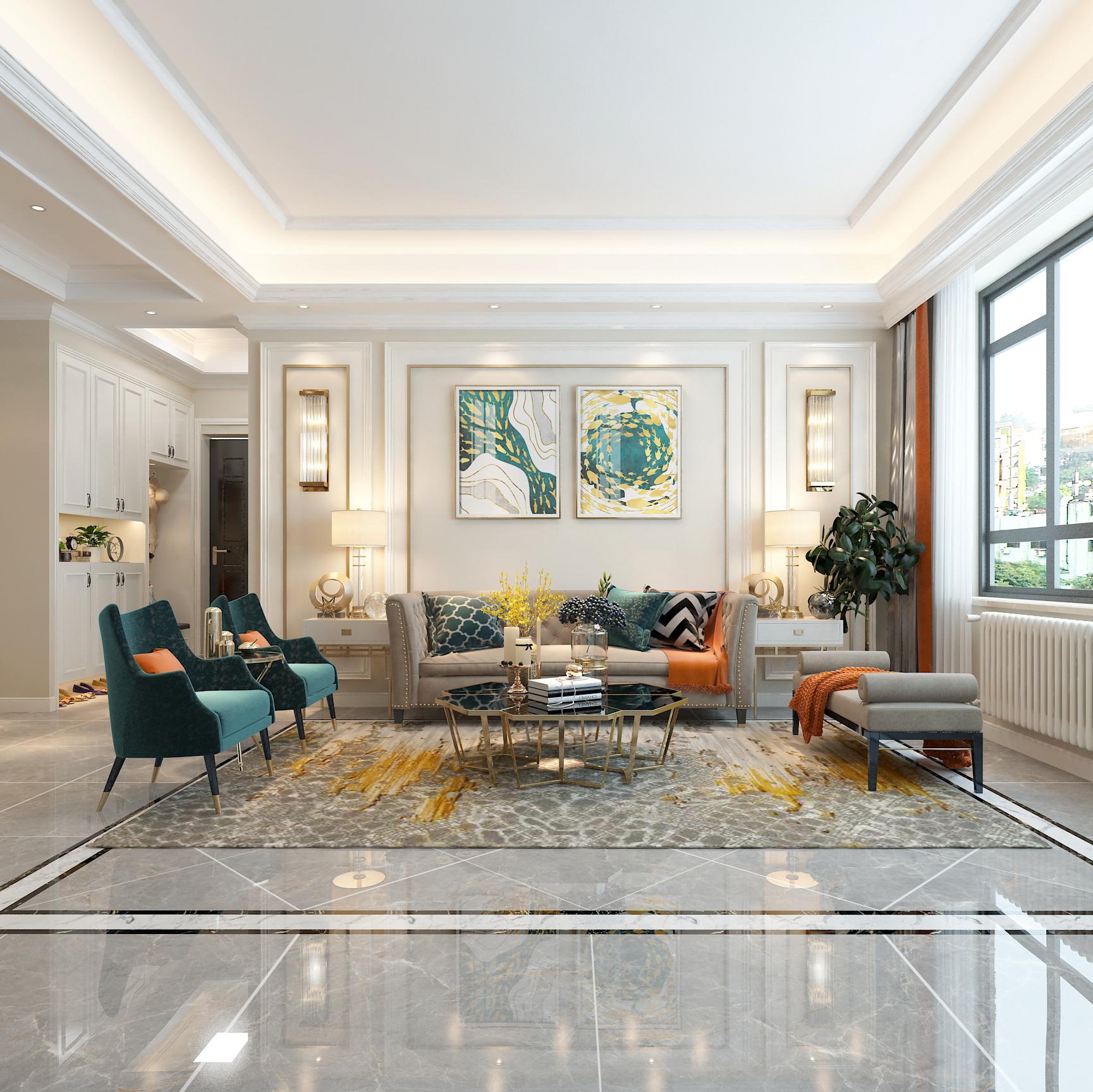 #客厅设计#买别墅就是好,有个这样的起居室,太休闲了