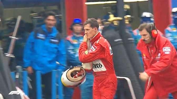 F1比赛当第一名被撞是什么感受?看看舒马赫和维斯塔潘,气到不行