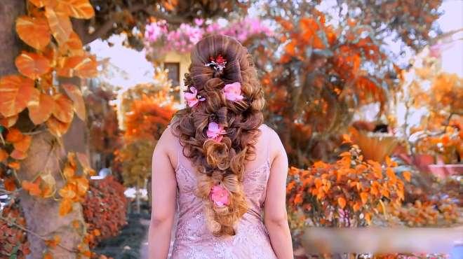 看发型老师如何打造新娘发型,浪漫唯美,看得我好心动