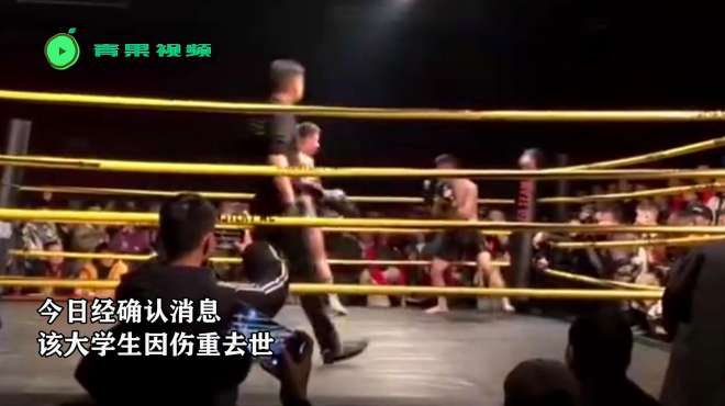 大学生格斗初学者被安排与冠军对打,被35秒KO倒地后不幸去世!