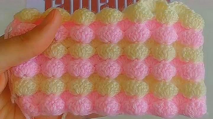 漂亮的鷹嘴豆花樣嬰兒毯子針織,簡單的鉤針搞定