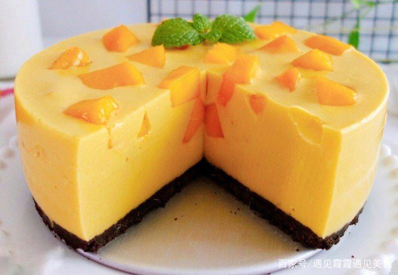 好吃的甜品——芒果慕斯蛋糕,萌妹不容错过