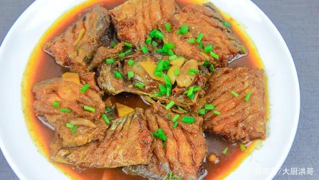 厨师长教你红烧带鱼的家常做法,只要掌握这一点,带鱼酥脆浓香