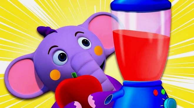 小象和朋友制作果汁三明治去度假