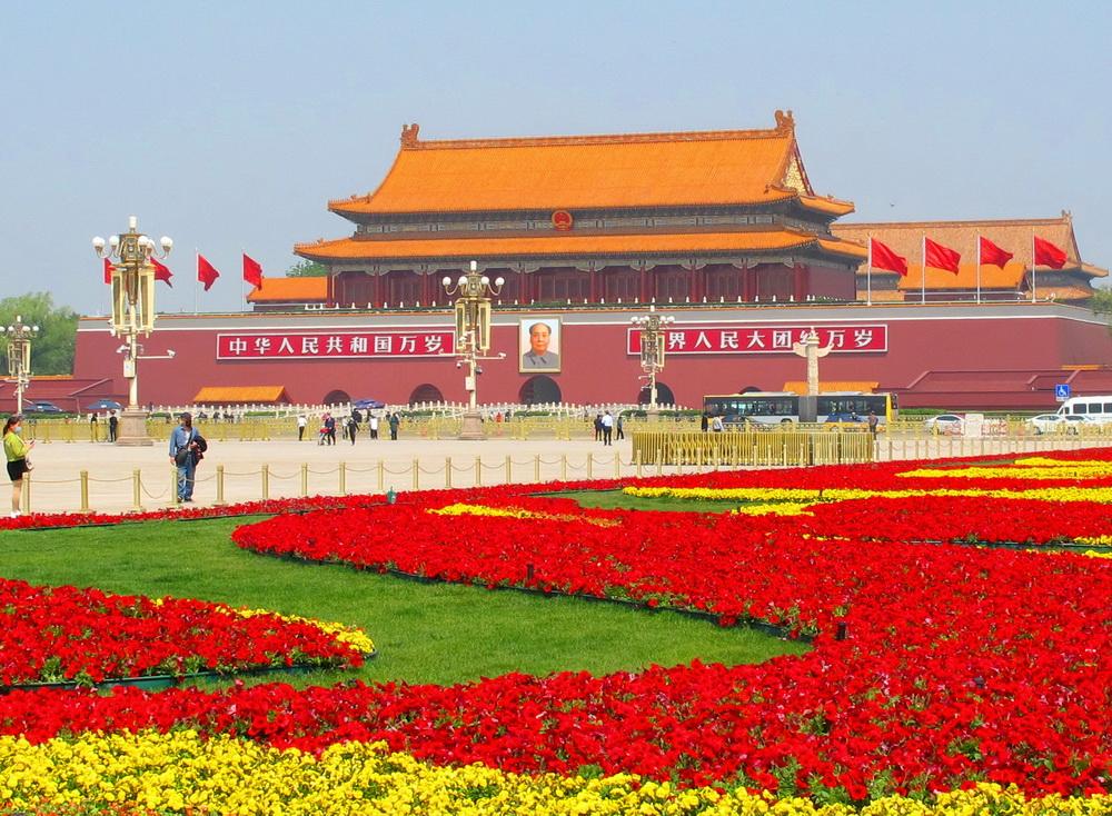 喜迎五一,天安门广场花团锦簇,美极了!(组图)