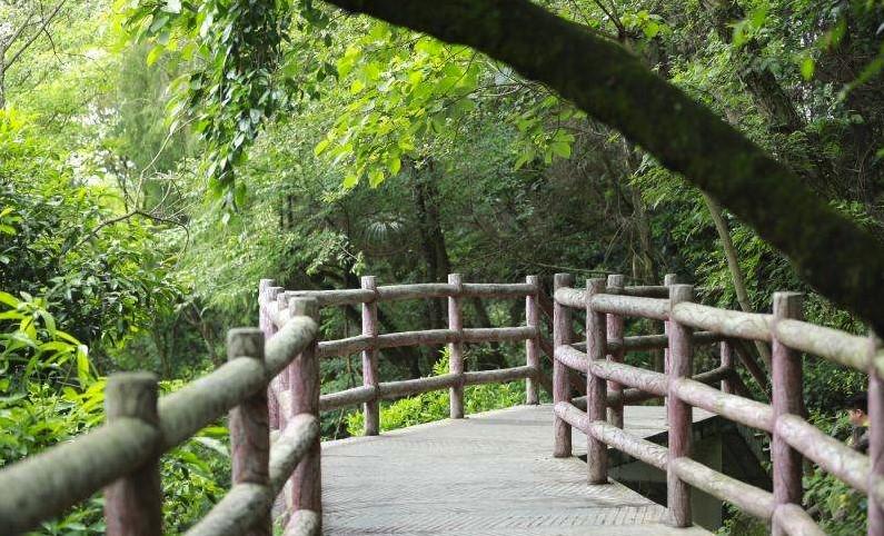 景区三横梁仿树皮栏杆