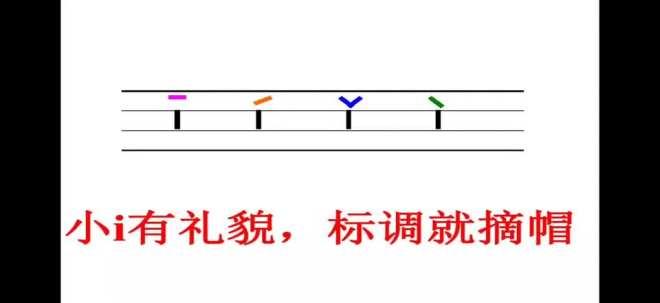 拼音(单韵母i的书写及四个声调)