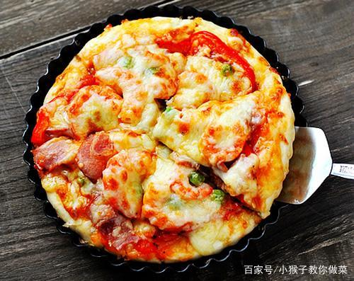 简单这三步,做出美味培根披萨,吃完之后,儿子说:比必胜客好吃
