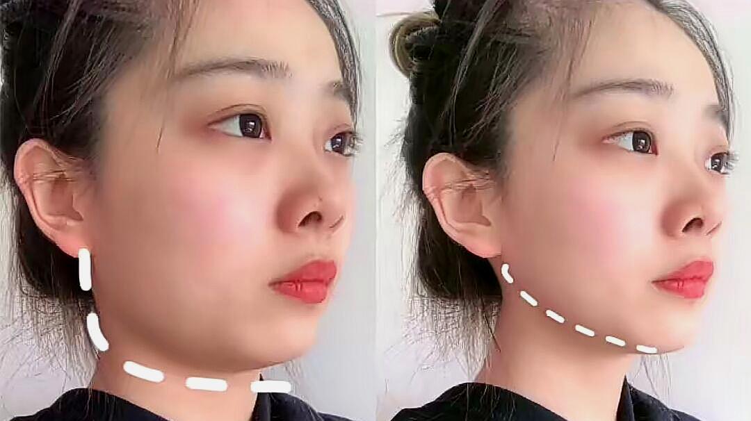 女生瘦咬肌的最快方法,瘦咬肌瘦双下巴去浮肿
