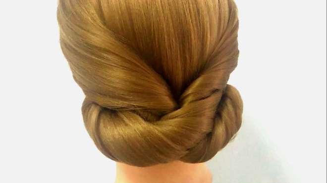 新娘盘发教程:中式新娘发型,快速简单的编发,中长直发盘发分享