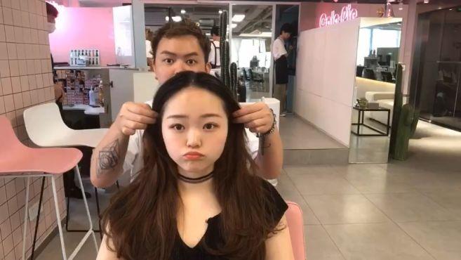 发型师说圆脸女生剪这款韩系发型很好看,超给颜值加分的