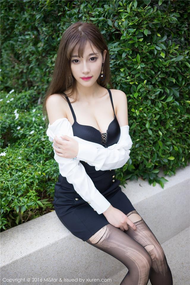 [魅妍社] 极品气质黑丝嫩模sugar小甜心CC白领休闲装高