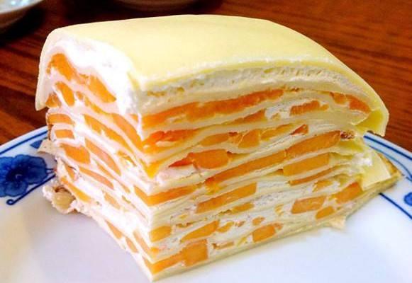千层蛋糕的做法,非常简单,而且很美味,不用烤箱的水果蛋糕