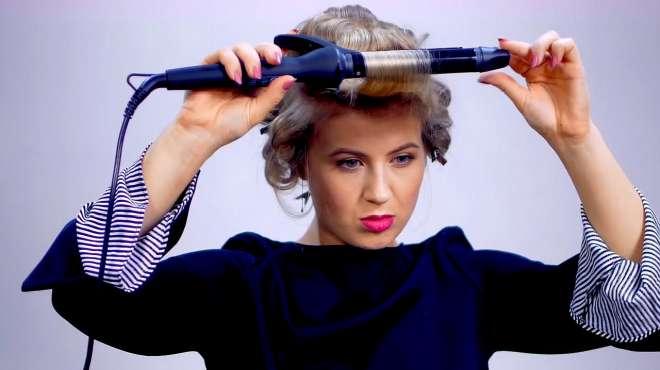 美女教你自己烫一个漂亮的短发,太好看了