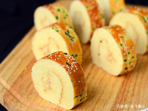 孩子爱吃的新春零食,肉松面包卷,简单好吃又营养美味,一看就会