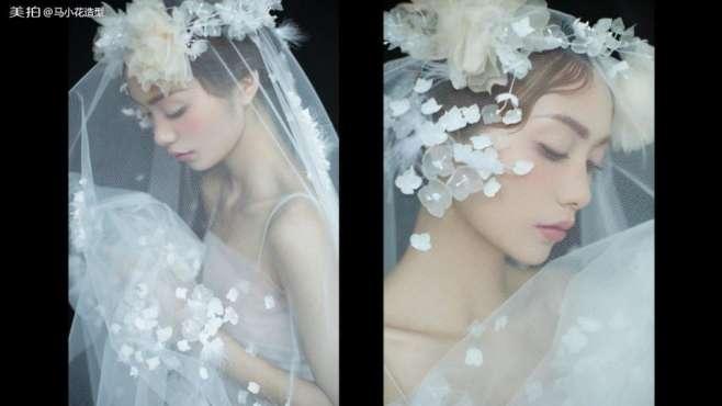 仙气满满的短发新娘造型教程