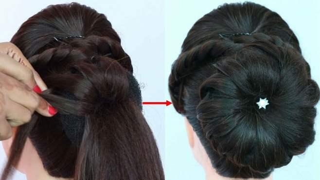 头发太厚怎么盘?最新的新娘妆发型,简单易学