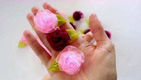创意DIY,教你用彩纱DIY漂亮又好看的小花簇