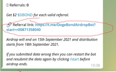 DogeBond空投,完成任务得价值10美金DBOND代币空投,推荐得2美金的DBOND代币