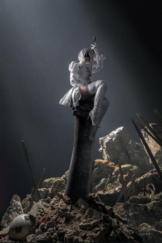 ⭐cos套图⭐Sayathefox – NO.03 2B White Dress [10P-105MB]插图2