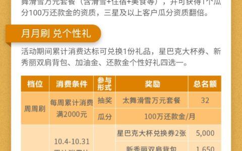 民生银行十月节节高活动来了