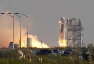 全球首富贝索斯飞入太空