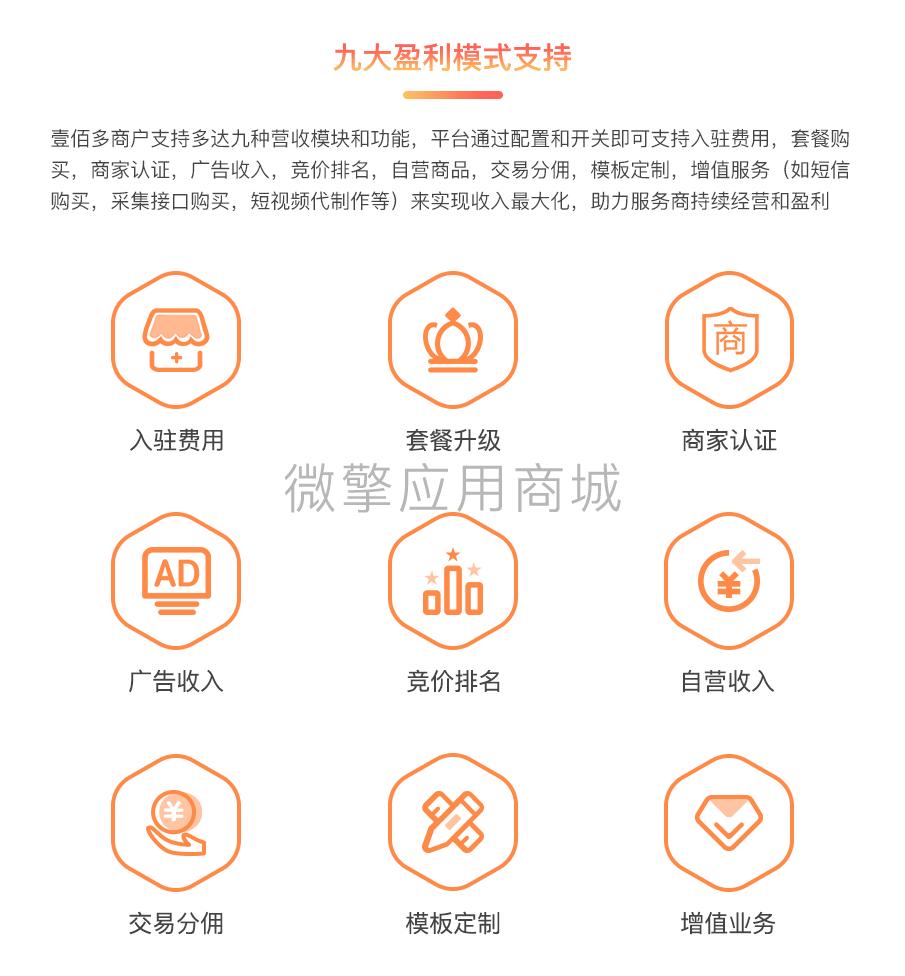 【全端小程序】壹佰多商户V1.0.41独立版小程序源码,可以用手机端开店的多商户商城小程序 QQ小程序 第9张