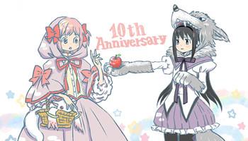 羽海野千花「魔法少女小圆」10周年纪念贺图公开