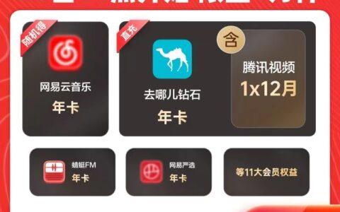 95元【蜻蜓FM旗舰店】蜻蜓FM超级会员买1得11送腾讯