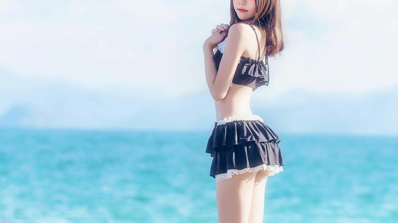 免费⭐微博红人⭐桜桃喵@写真cos-一起去海边吧(桜桃喵)【10P】插图1