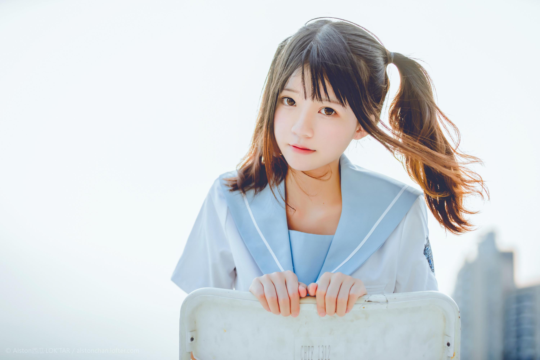 免费⭐微博红人⭐桜桃喵@写真cos-穿制服的样子(桜桃喵)插图3