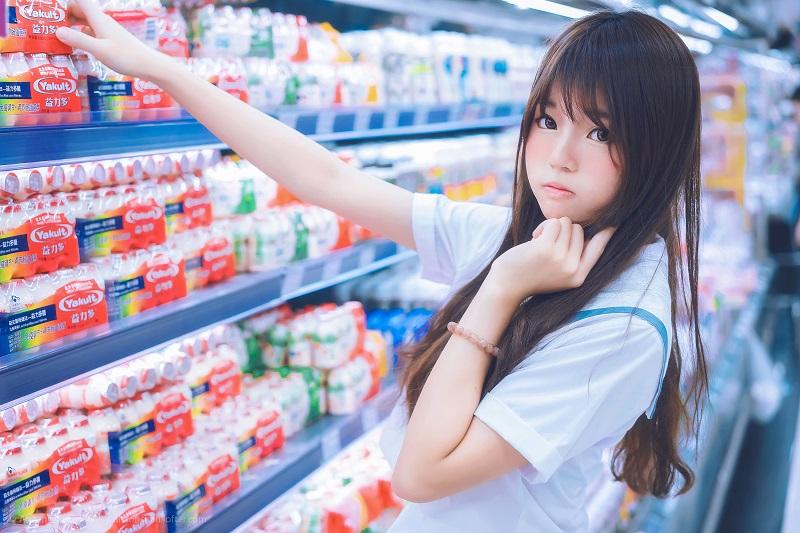 ⭐微博红人⭐桜桃喵人气Coser-超市【9P/13MB】插图