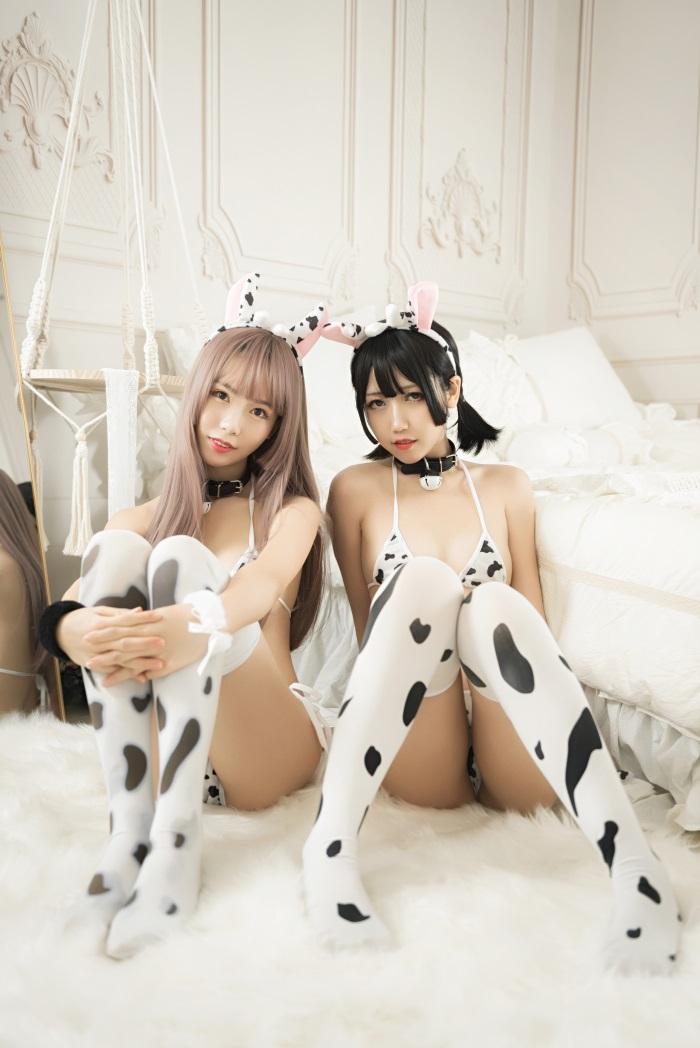 ⭐微博红人⭐抖娘-利世-coser抖娘×不呆猫牛奶[36P/298MB]插图1