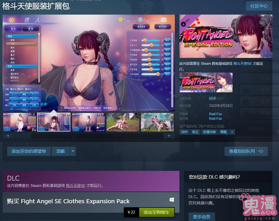 【ACT/格斗/捏脸/爆衣】Fight Angel 格斗天使SE 官方中文版!社保补丁+整合DLC【1.3G解压4G】 电脑游戏 第6张