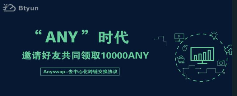 Btyun币云交易所:邀请好友瓜分10000ANY活动,活动时间截止3月31日