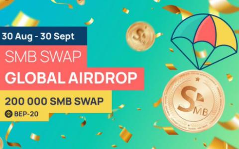 SimbCoin:空投参与者每人8枚SMBSWAP,每推荐1人获得2枚SMBSWAP奖励