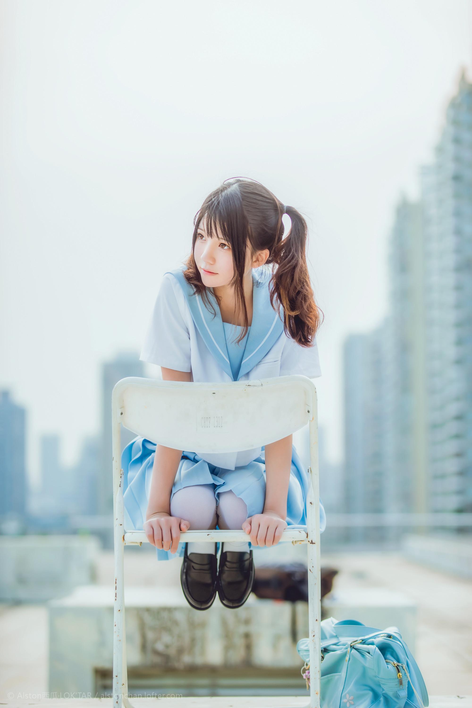 免费⭐微博红人⭐桜桃喵@写真cos-穿制服的样子(桜桃喵)插图9