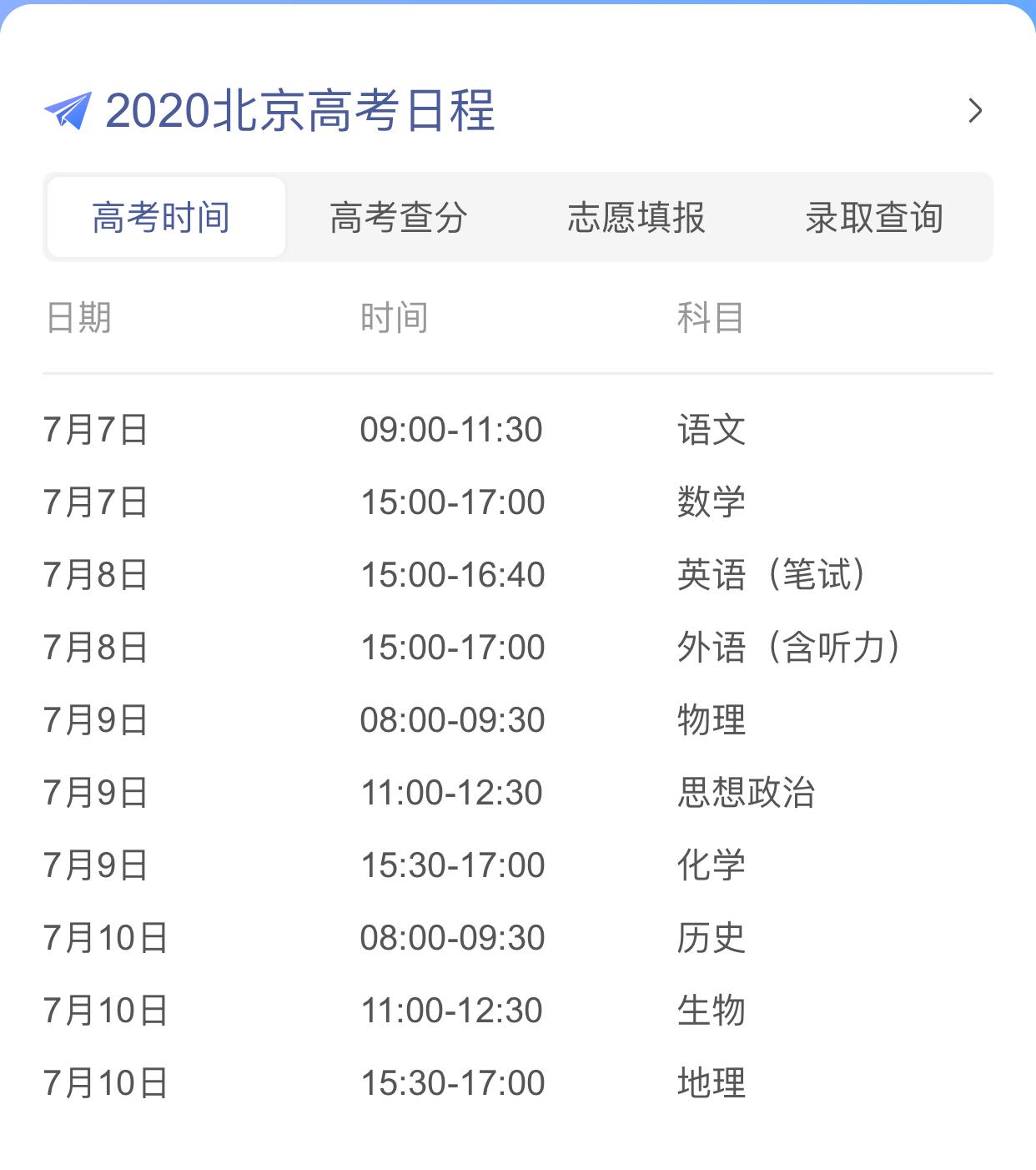 高考改革,北京今年不考文綜和理綜