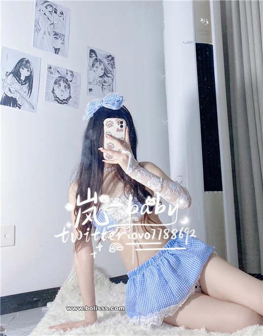 图片[1]-原味岚 – 蓝色小裙[1V/24P/100MB]-醉四季