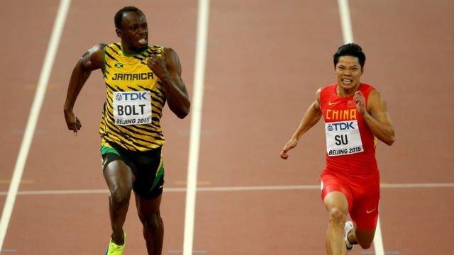 图像加注文字,中国跑手苏炳添认为,10秒更多是一个心理层面上的挑战。