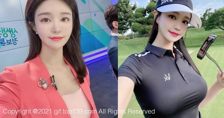 韩国美女主播「尹浩延」爱打高尔夫!气质出众、长相甜美