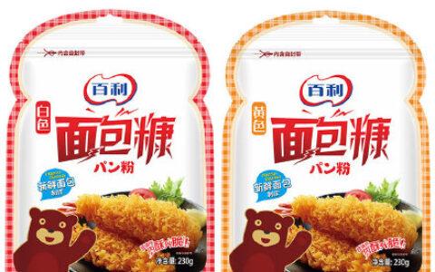 【百利】家用油炸面包糠230g【5.8】 百利面包糠家用油